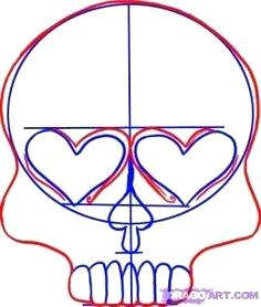 236x278 How To Draw A Sugar Skull How To Draw A Sugar Skull Easy Step