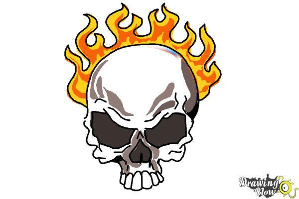 600x400 How To Draw A Skull On Fire