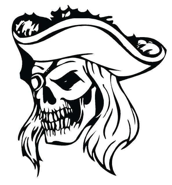 594x638 How To Draw A Pirate Skull Step