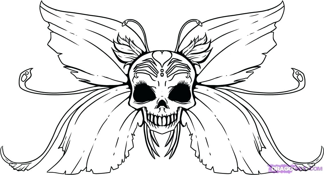1132x613 Fairy How To Draw How To Draw A Skull Fairy Step Simple Fairy