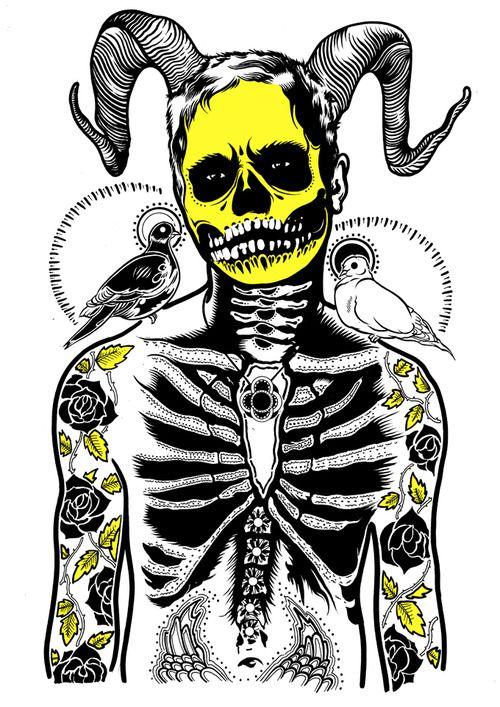 500x707 Tumblr Memento Mori Skull Art, Art And Drawings
