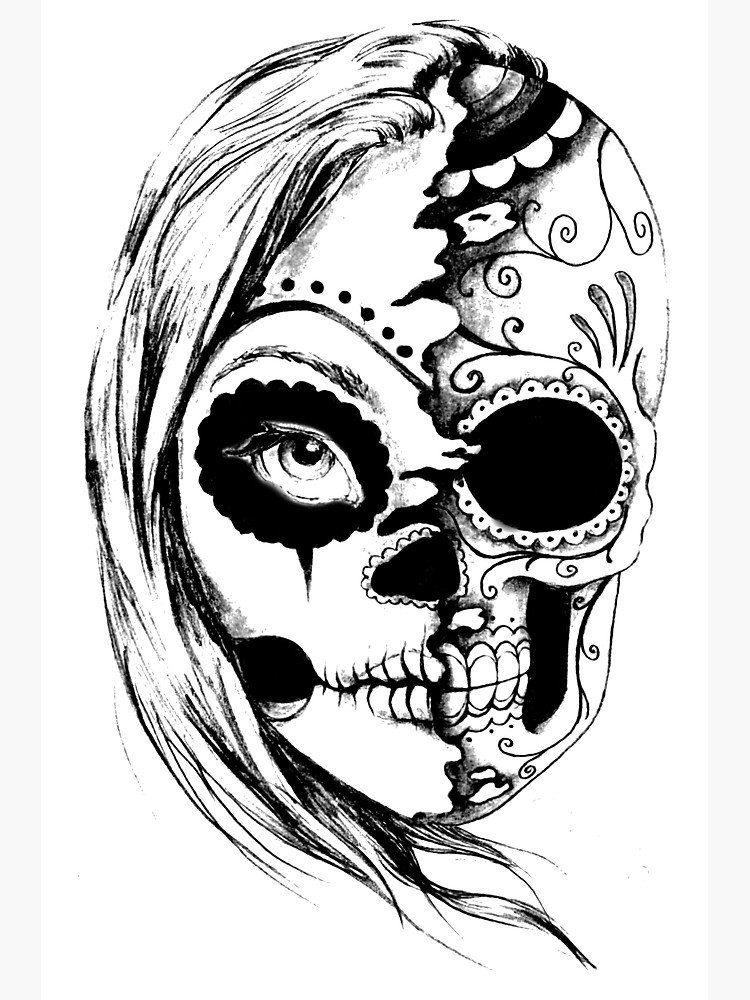 750x1000 Tumblr Skull Photographic Print