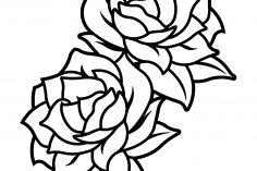 236x157 Black And White Rose Drawing Border Vector Skull Flowers Clip Art