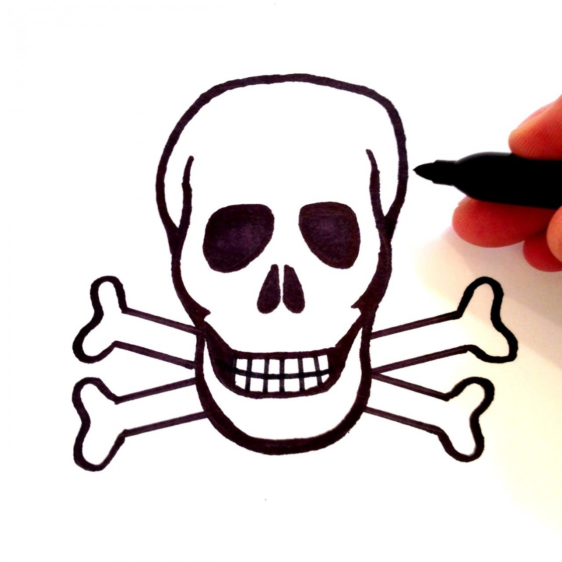 1120x1120 How To Draw A Skull