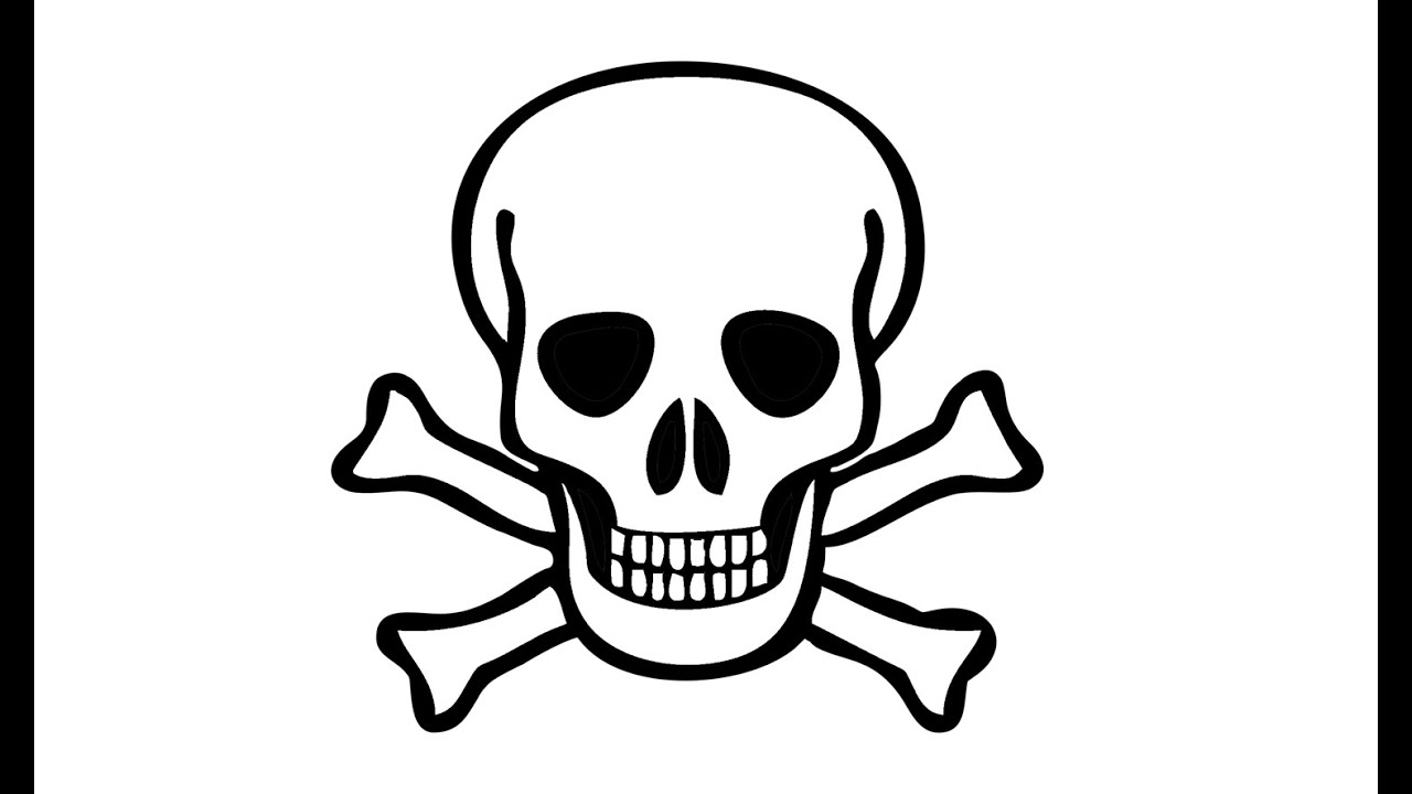 1280x720 How To Draw A Pirate Skull