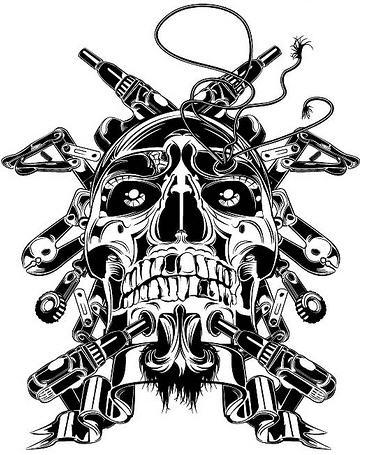 369x455 How To Draw A Skull Tutorials Drawn In Black