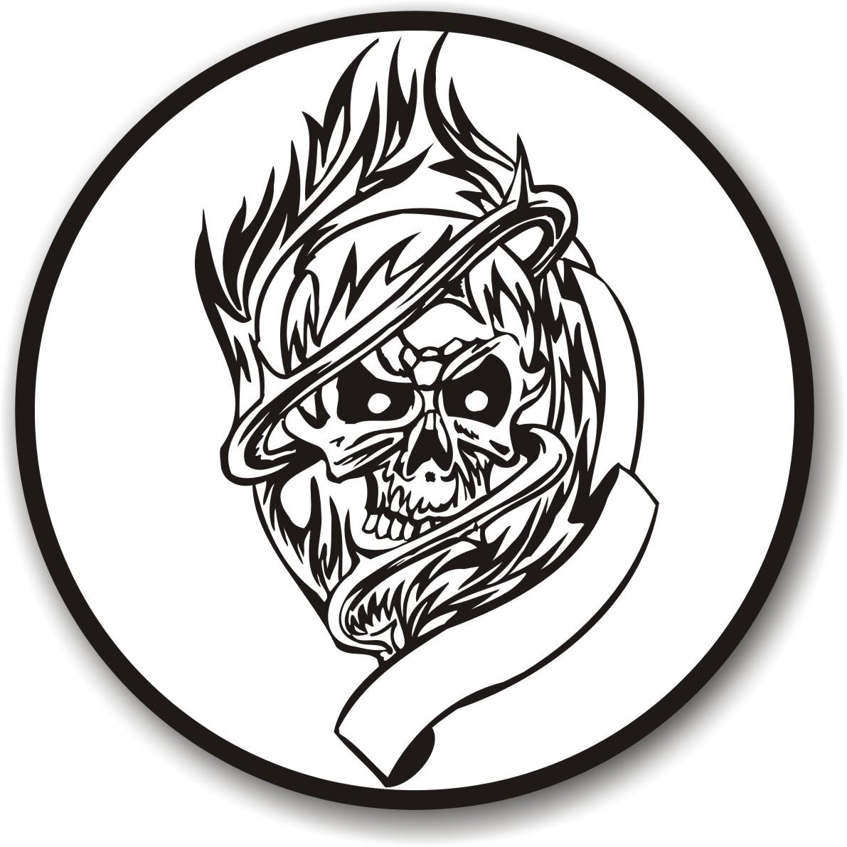 1191x1191 Skull Burn Vector Corel Draw Tutorial And Free Vectors
