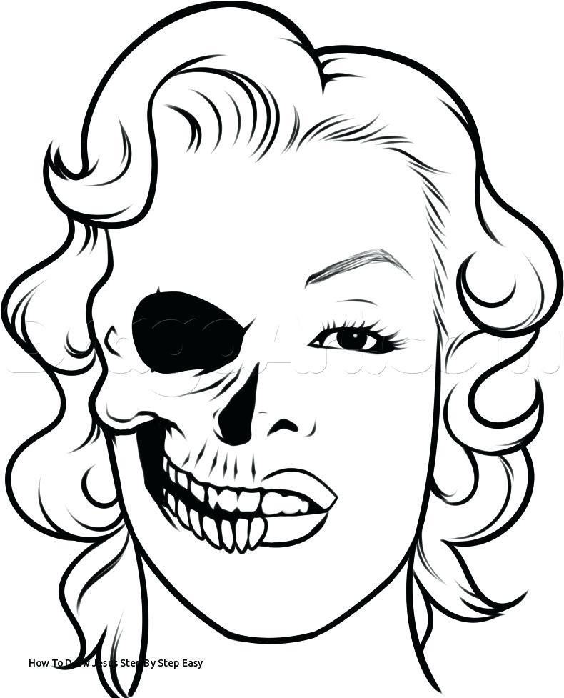 790x977 Skull Drawing Easy Drawn Skull Step