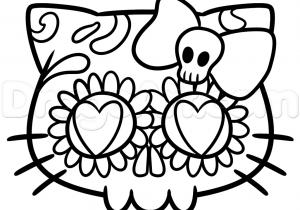 300x210 Sugar Skull Drawing Step