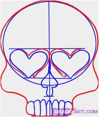 408x481 Sugar Skull Drawings Step