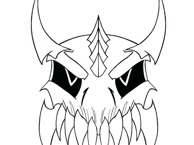 640x480 Skull Drawing Easy