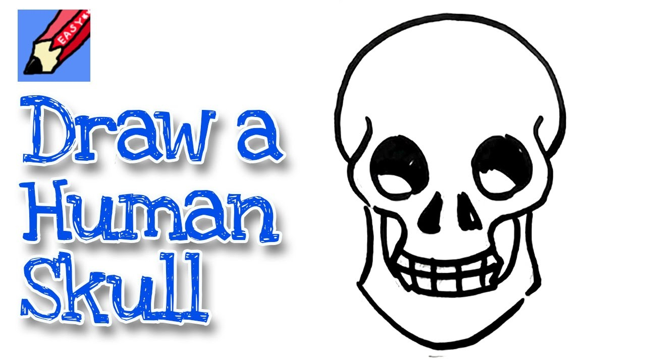 1280x720 easy drawing of human skull human skull drawing tutorial