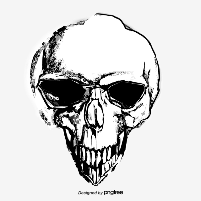 640x640 hand painted skull, hand painted, skull, terror png and vector