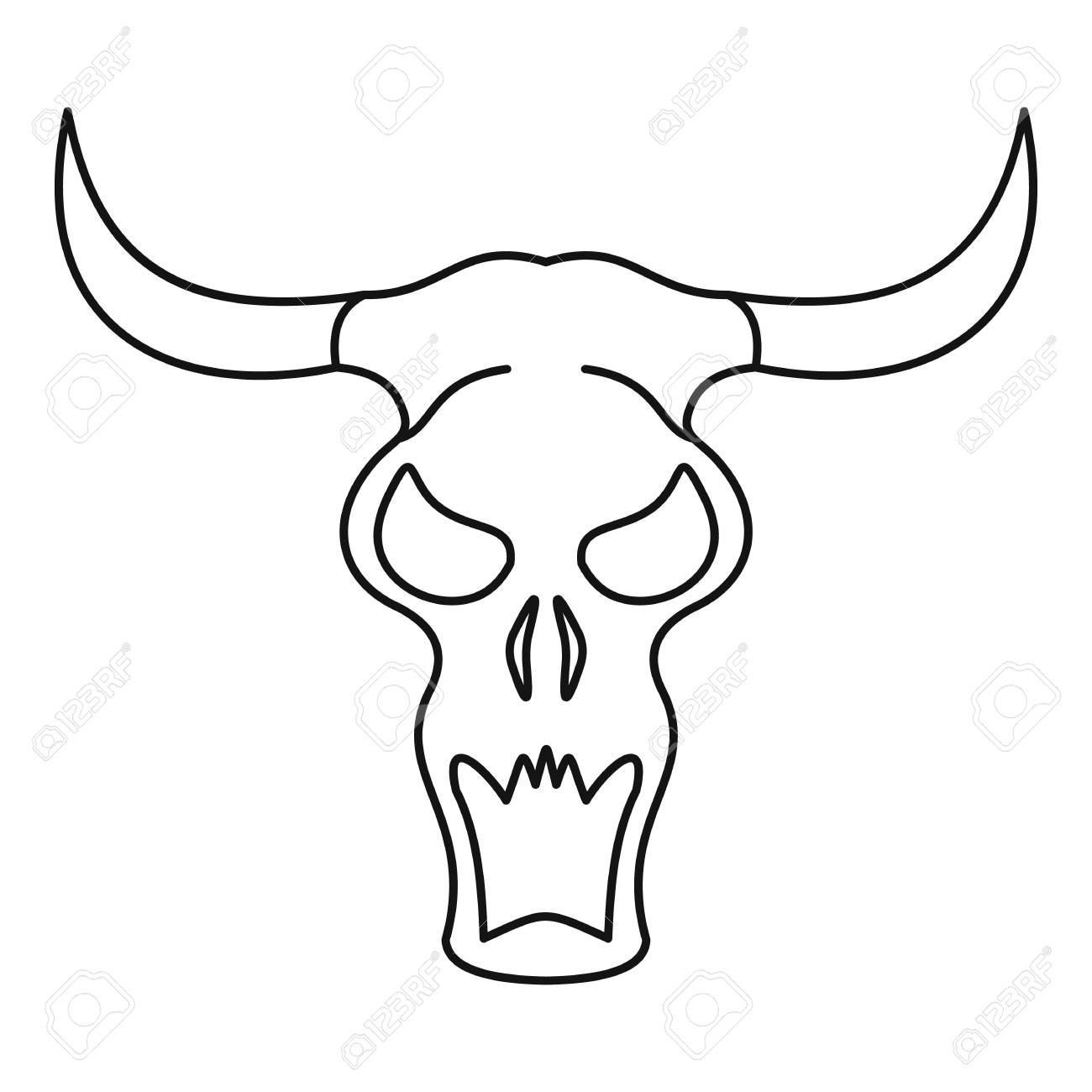 1300x1300 Huge Collection Of 'buffalo Outline Drawing' Download More Than