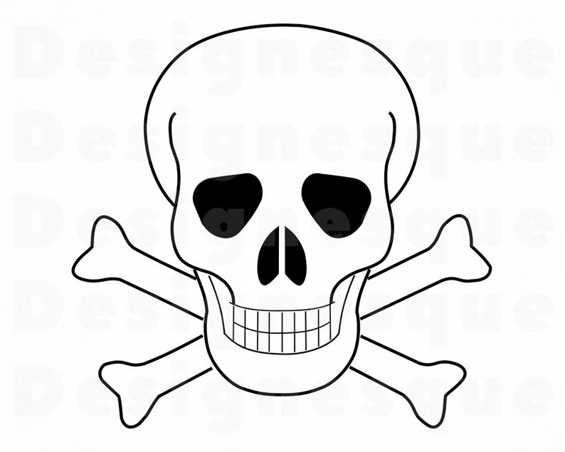 794x635 pirate skull skull outline skull skull clipart etsy