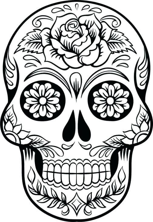 505x730 Simple Sugar Skulls Sugar Skull Makeup For Simple Sugar Skull