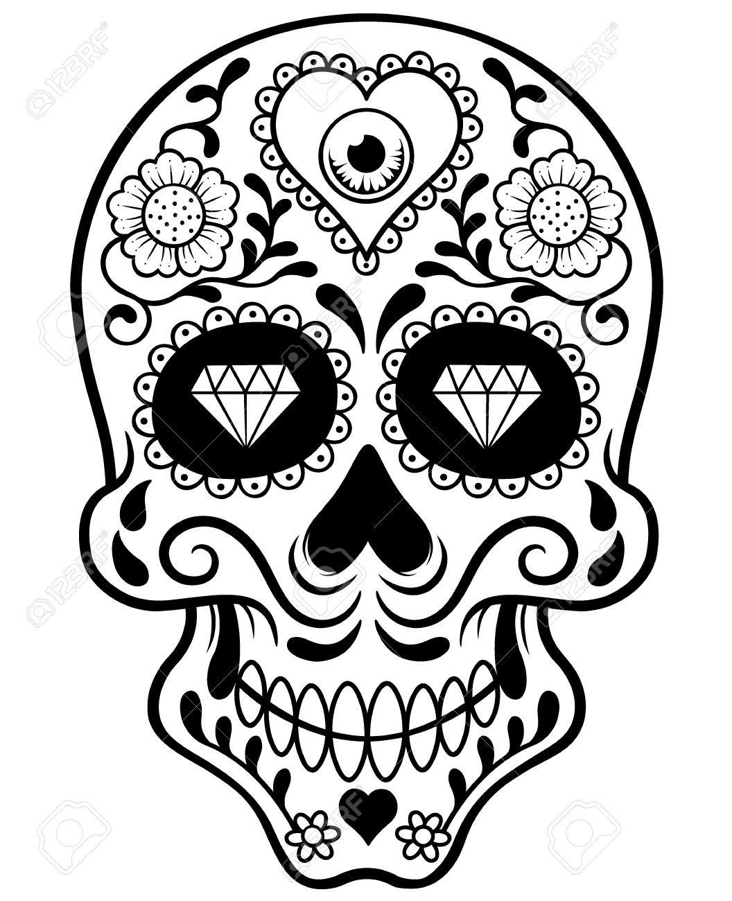 1056x1300 Skull Drawing Outline