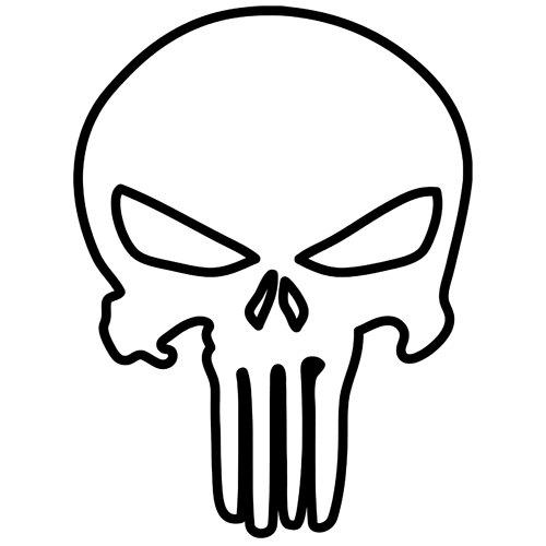 500x500 Skull Outline Clip Art Clip Art