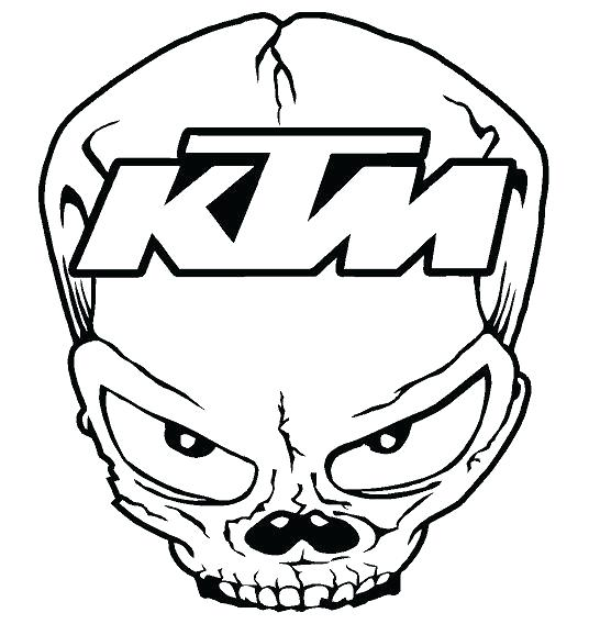 546x568 Skull Outline Drawing At Free For Personal Use Image