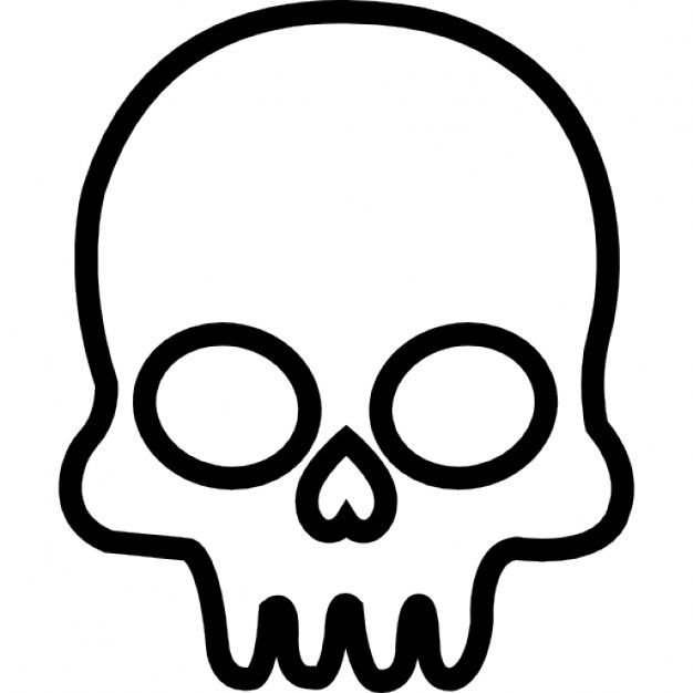 626x626 Skull Outline From Frontal View Within Skull Outline