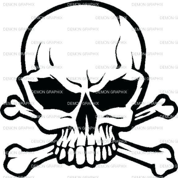 576x576 Skull Outline Skull Outline Drawing