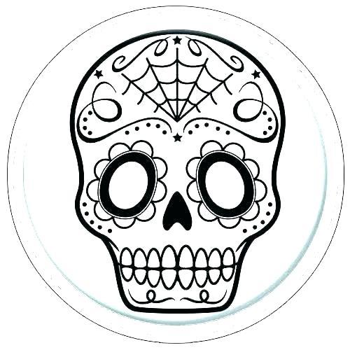 500x500 Skull Template Printable Sugar Download Drawing Maker Pumpkin S