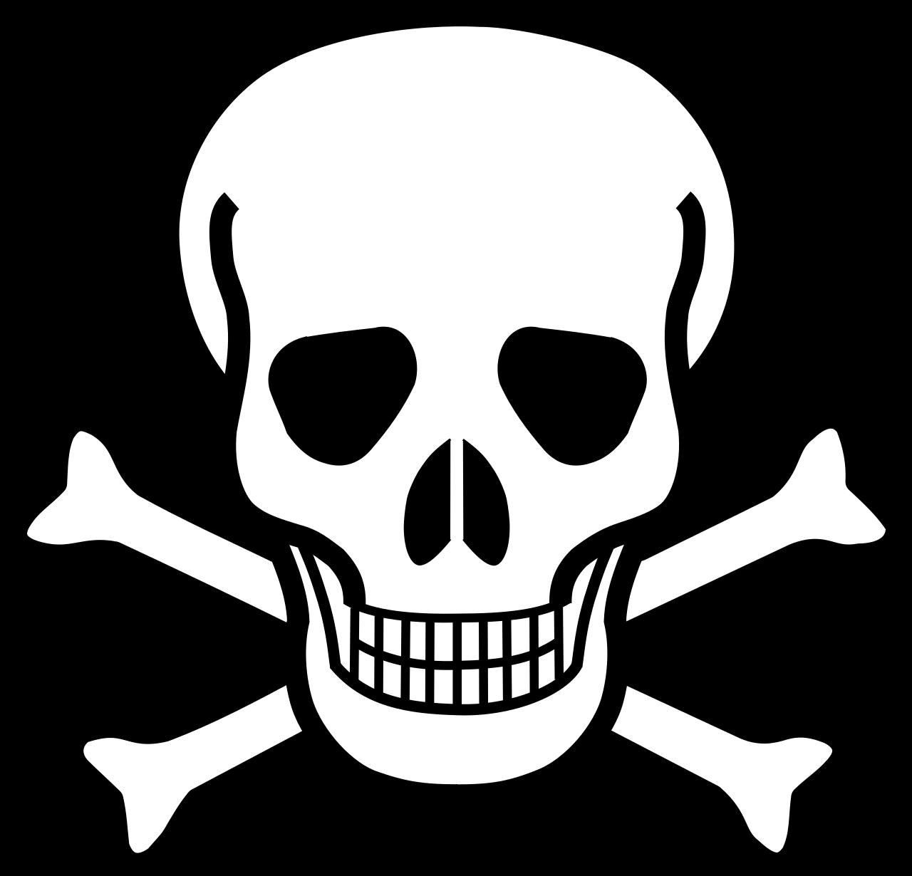 1280x1230 Vector Outline Skull Transparent Png Clipart Free Download