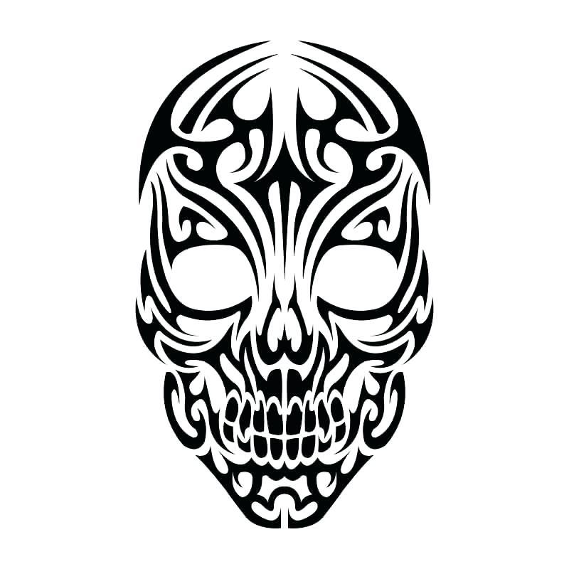 800x800 Skull Outline Tattoo