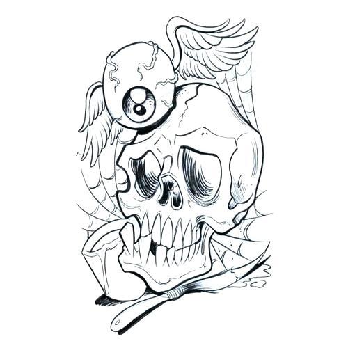 500x500 Skull Outlines