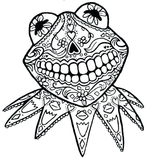 569x611 Sugar Skull Outline