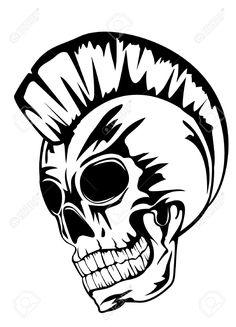 Skull Pile Drawing