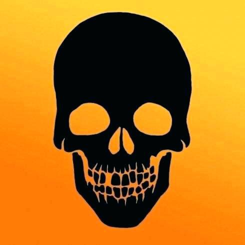 490x490 Small Skull Template Stencil Airbrush Pile Group Of Stencils