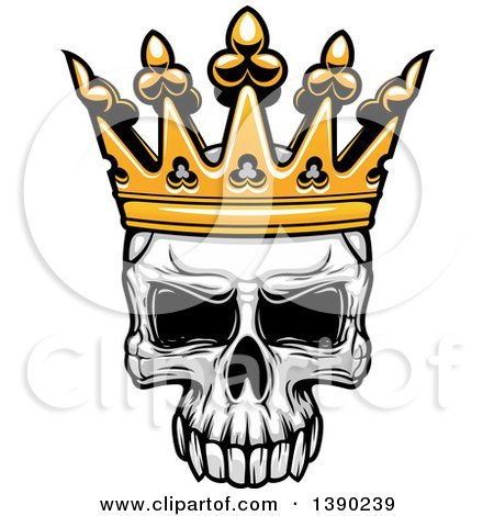 450x470 Human Skull Wearing A Crown Posters, Art Prints