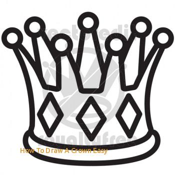 350x350 Queen Crown Drawing
