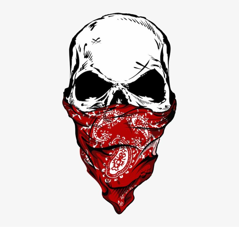 820x778 Skull With Bandana Drawing