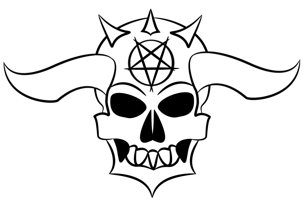 1062x712 Collection Of Free Horn Drawing Skull Download On Ui Ex