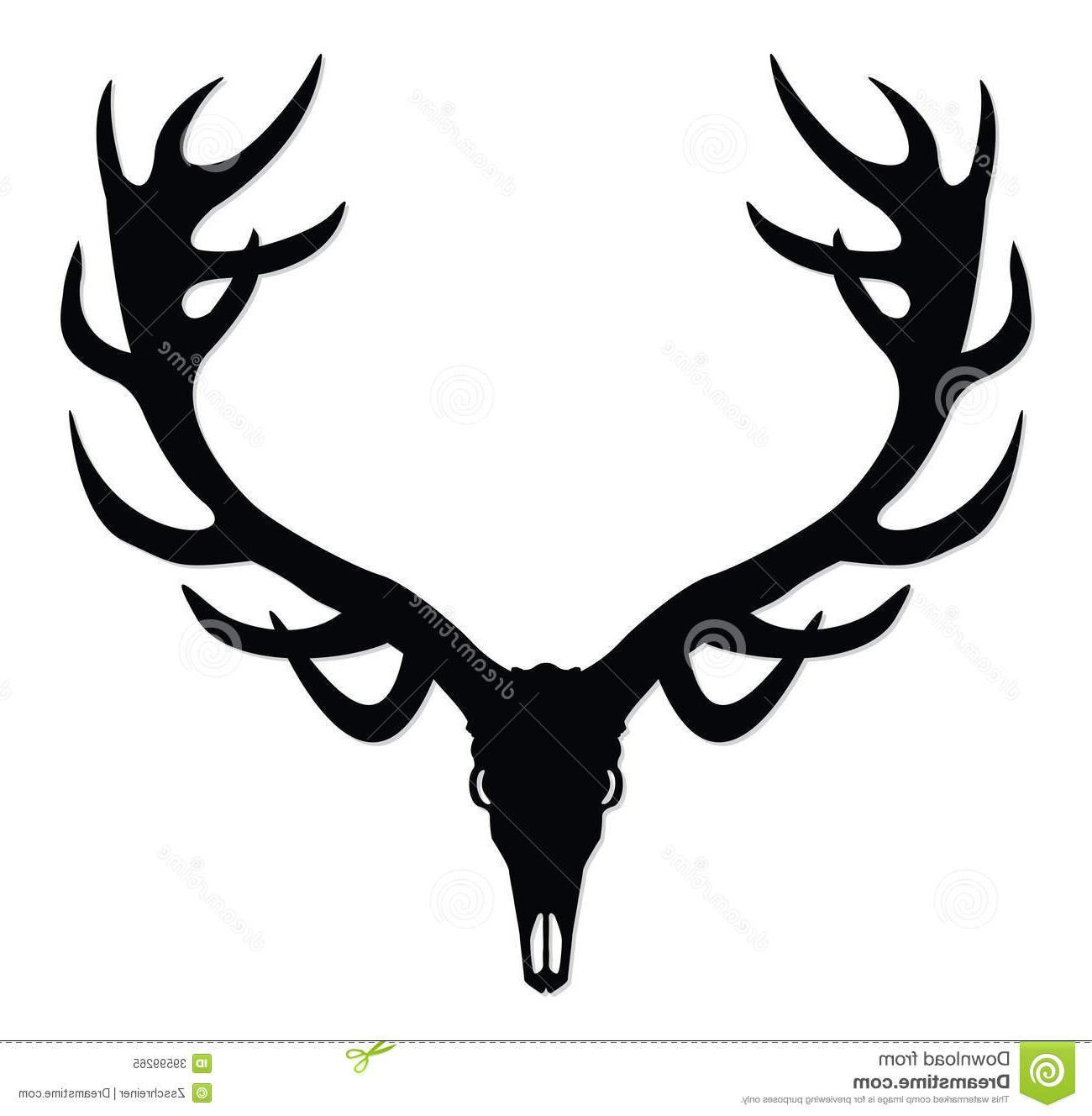 1300x1328 Hd Deer Skull Silhouette Clip Art Drawing Free Vector Art