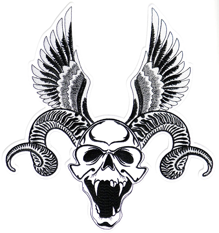 1410x1500 Big Large Devil Satan Skull Wings Horn Rider