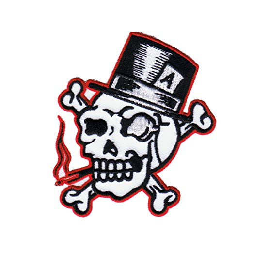 Skull With Top Hat Drawing