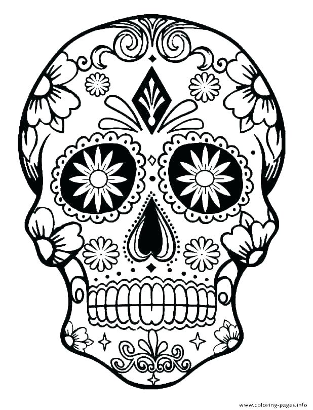 618x809 sugar skull simple simple sugar skulls sugar skulls coloring pages