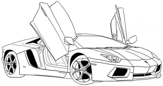 Skyline R34 Drawing