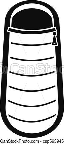 209x470 sleep bag icon, simple style sleep bag icon simple illustration