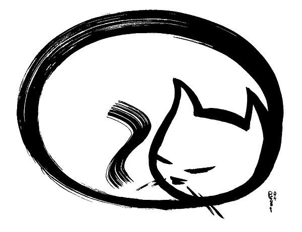 600x462 Sleeping Cat Painting
