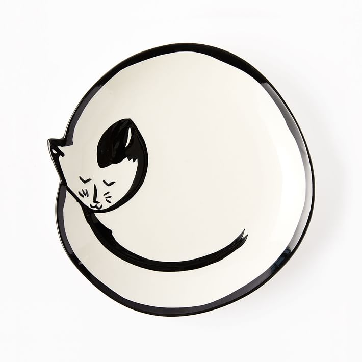 710x710 Sleeping Cat Trinket Dish West Elm
