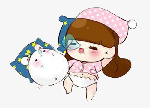 500x362 Cartoon Little Girl Sleep At Night, Cartoon, Sleeping People, Girl
