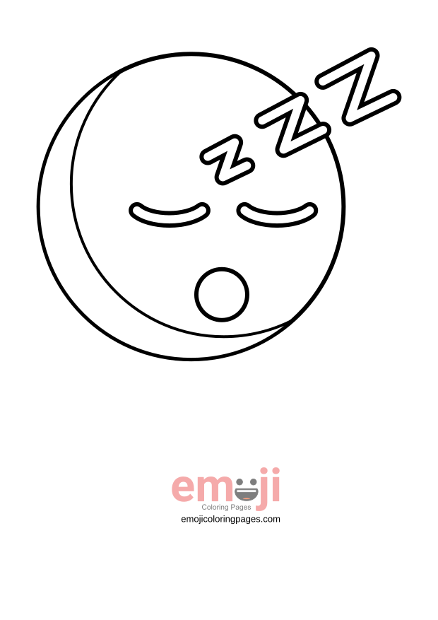 Sleeping Lion Drawing Free Download Best On Rhclipartmag: Sleeping Emoji Coloring Pages At Baymontmadison.com