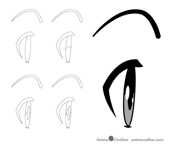 675x575 How To Draw Anime Manga Eyes