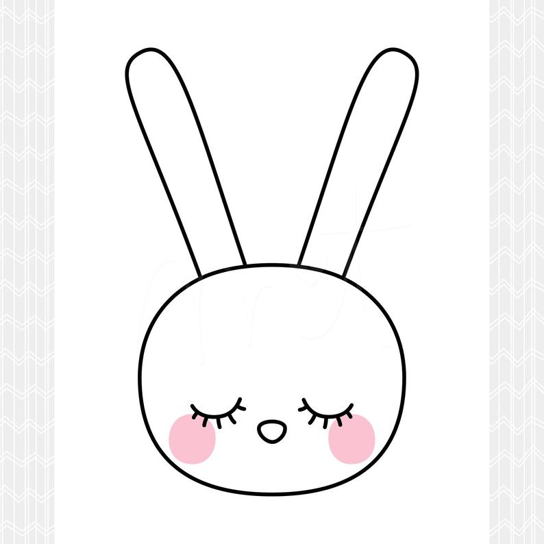 794x794 Sleepy Eyes Bunny Diy Printable Digital Wall Art Prints Etsy