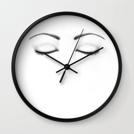 264x264 Sleepy Eyes Wall Clocks