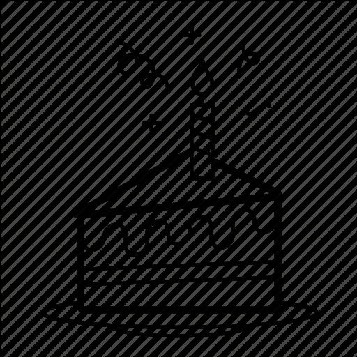 512x512 Download Birthday Cake Slice Drawing Clipart Cupcake Birthday Cake